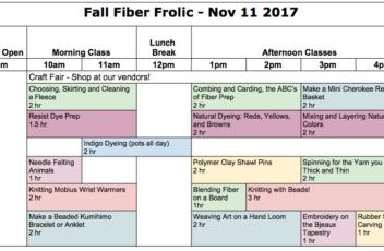 2017-11-FallFrolicSchedule